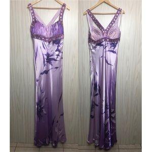 Aspeed Beaded Lavender Purple Evening Gown Dress